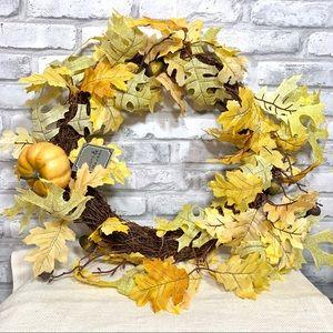 "Lloyd & Hannah 20"" Autumn Faux Oak Leaf Wreath"